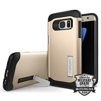 Spigen Slim Armor for Galaxy S7 Edge gold colored