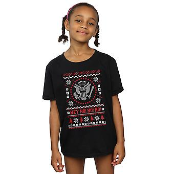 Ramones Girls Christmas Fair Isle T-Shirt
