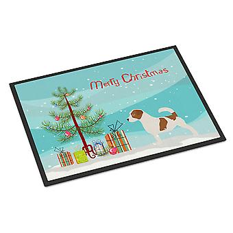 Jack Russell Terrier Merry Christmas Tree Indoor or Outdoor Mat 24x36
