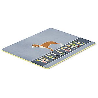 Carolines Treasures  BB5495CMT Spanish Hound Welcome Kitchen or Bath Mat 20x30