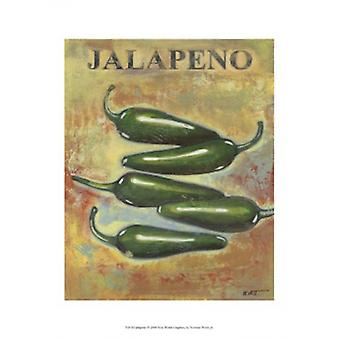 Jalapeno Poster Print by Norman Wyatt (10 x 13)