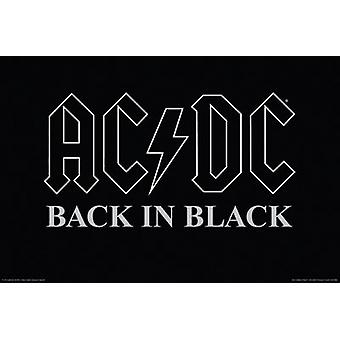 ACDC - Back In Black Poster Poster Print