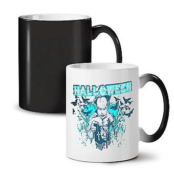 Halloween Horror Cult NEW Black Colour Changing Tea Coffee Ceramic Mug 11 oz | Wellcoda