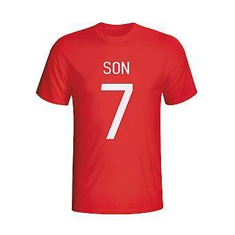 Søn Heung-min Sydkorea Hero T-shirt (rød) - børn