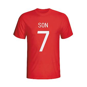 Son Heung-min South Korea Hero T-shirt (red) - Kids
