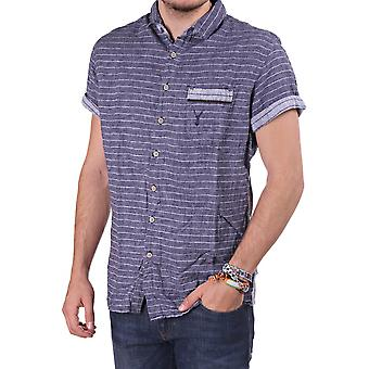 Pearly King Mens Ss Striped Shirt