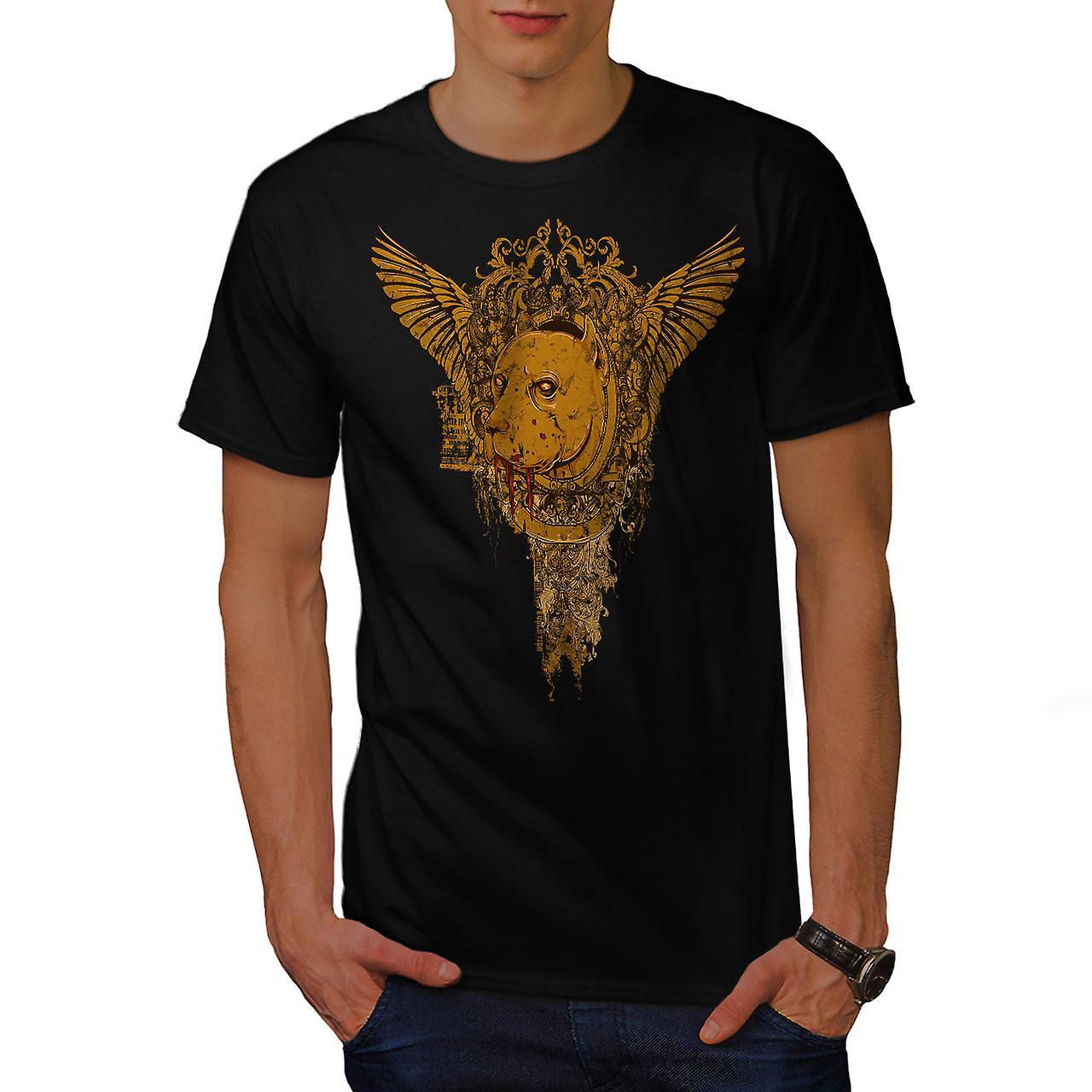 Zombie Bloody Horror Dog Men Black T-shirt | Wellcoda