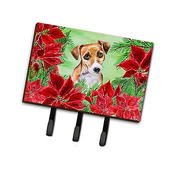 Jack Russell Terrier #2 Poinsettas Leash or Key Holder