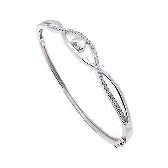 Christian hearts cubic zirconia bracelet