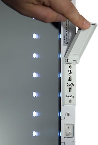 Cyan Shaver LED Bathroom Mirror With Demister Pad & Sensor k171