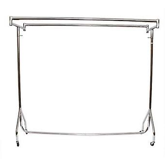 3ft Heavy Duty cromo vestiti ferroviario doppio Top bar 92x155x50cm