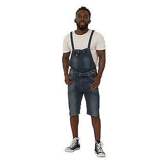 Men's Dungaree Shorts - Detachable Bib Denim bib-shorts Overall Shorts