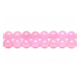 1 GS9979 Strand 95 + różowy Ringgit Jade 4mm szlifowane koraliki okrągłe