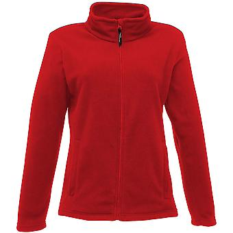 Regatta Damen Mikro Full Zip Fleece Jacke TRF565 rot