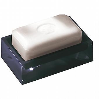 Arco iris jabón plato negro