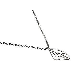 Silver ladies necklace butterfly wings 925 Silver wholesale ladies necklace