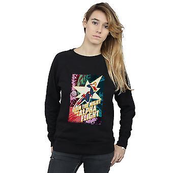 Marvel kvinders Captain Marvel Alpha Flight Sweatshirt