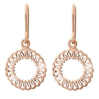 Orphelia sølv 925 ørering Rose cirkel ZO-7075/1