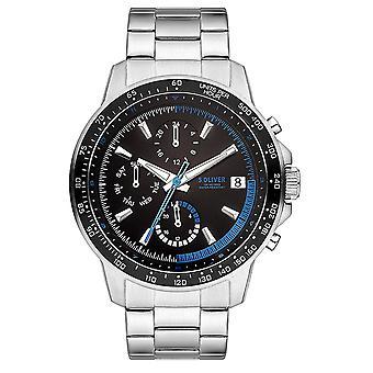 homens s.Oliver relógio de pulso inox SO-3486-MM