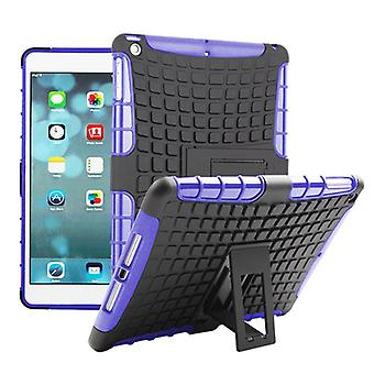 Hybrid outdoor protective cover case purple for Apple iPad air bag