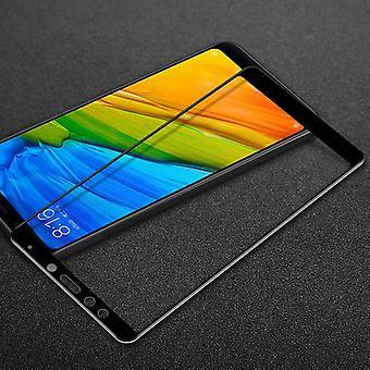 3D premie 0.3 mm bøyd H9 vanskelig glass svart folie for Xiaomi Redmi 5 pluss beskyttelse