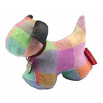 Elma Check Dog Paperweight by Monica Richards