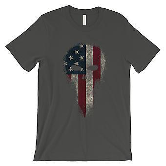 Vintage American Skull Mens Cool Grey T-Shirt Graphic Skull Shirts
