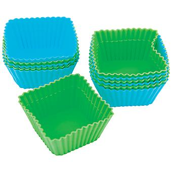 Silicone Standard Baking Cups-Square 12/Pkg