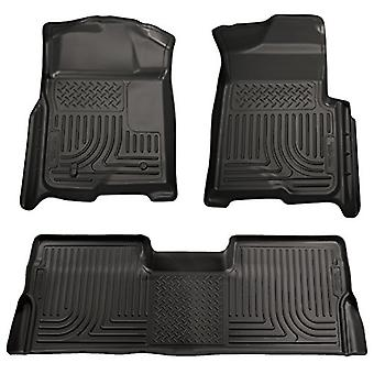 Husky Liners Front & 2nd Seat Floor Liners (Footwell Coverage) Fits 09-15 Pilot