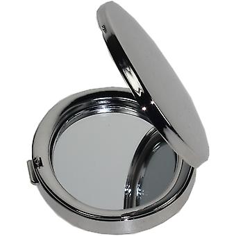 Nickel-Plated Oval Compact Mirror