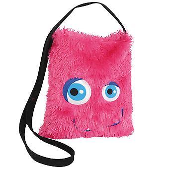 Mostro rosa peluche della borsa