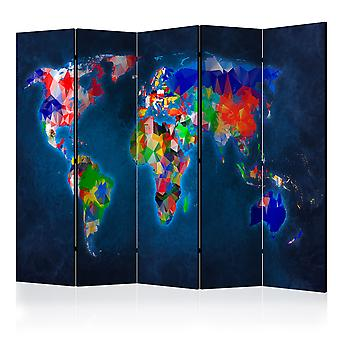 Room Divider - Room divider – Colorful map