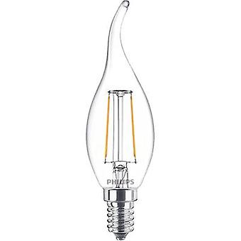 Philips Lighting LED EEC A++ (A++ - E) E14 Candle angular 2 W = 25 W Warm white (Ø x L) 35 mm x 123 mm Filament 1 pc(s)
