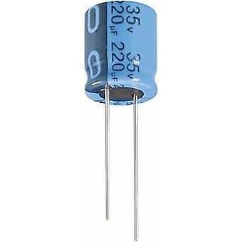 Jianghai ECR1VPT221MFF501012 Electrolytic capacitor Radial lead 5 mm 220 µF 35 V 20 % (Ø x H) 10 mm x 12.5 mm 1 pc(s)