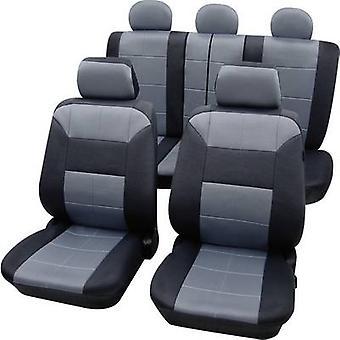 Petex 22574918 Dakar SAB 1 Vario Plus Seat covers 17-piece Polyester Grey, Black