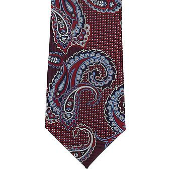 Michelsons van Londen Twill Paisley Polyester ex aequo - rood