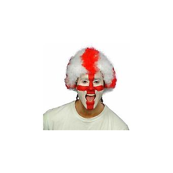 Union Jack Wear England St George Supporters Wig