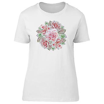 Lovely Pink Vintage Roses Tee Women's -Image by Shutterstock