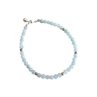 Gemshine aquamarine bracelet in 925 Silver - handmade in Munich / Germany. Delivered in an elegant gift case.