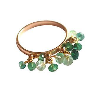 Gemshine - Damen - Ring - Vergoldet - Smaragd - Grün