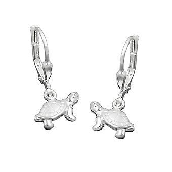 Kinder oorbellen oorbellen zilveren Brisur, schildpad, zilver 925
