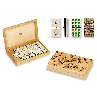 Dal Negro Luxury Venetian Dominoes 9's in Poplar Case