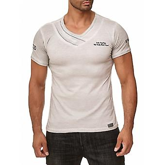 Tazzio mode mens T-shirt grå adb9154337ff1