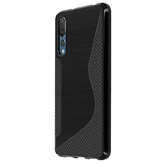 S-Line design morbido custodia in silicone per Huawei P20 Pro - nero