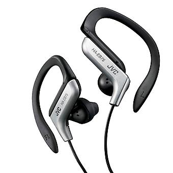 JVC HAEB75S Sports Ear Clip Earphone with Adjustable Clip - Silver