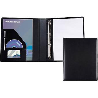 David Van Hagen A4 Ring Binder Folder - Black