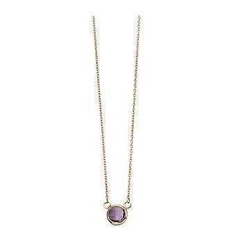 Elements Gold Amethyst Bezel Set Necklace - Purple/Gold