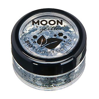 Biodegradable Eco Chunky Glitter by Moon Glitter - 100% Cosmetic Bio Glitter for Face, Body, Nails, Hair and Lips - 3g - Silver