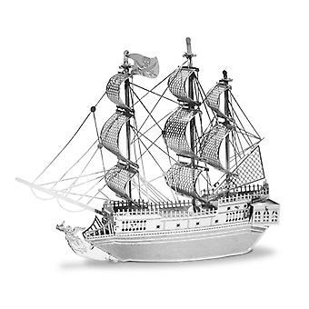 Metall jorden pirat skipet Black Pearl sølv Edition