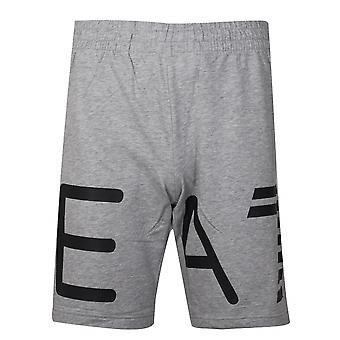 Ea7 EA7 szary Logo bawełniane szorty